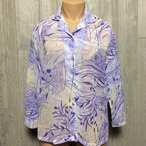 National Purple Print Blouse PLUS SIZE 16W